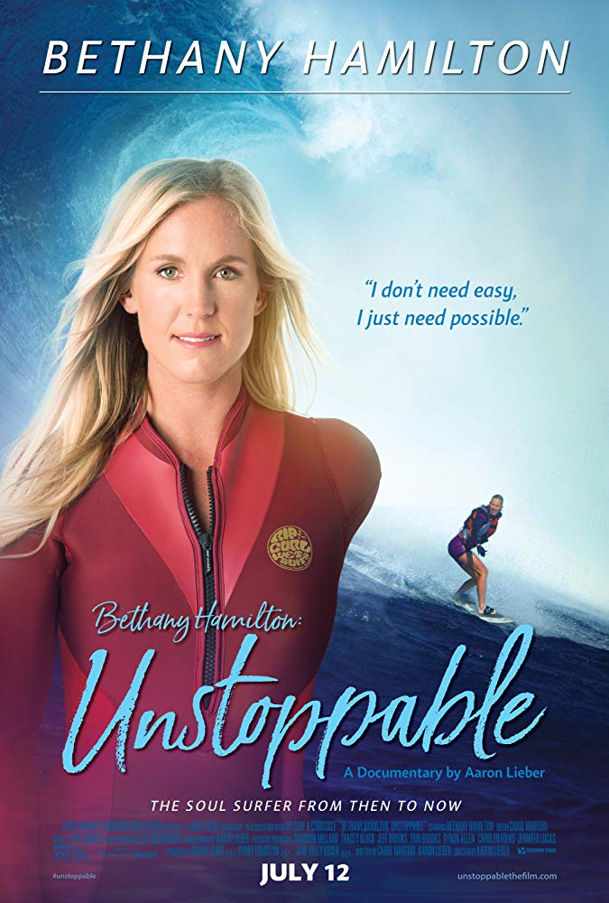 BETHANY HAMILTON: UNSTOPPABLE Release Poster