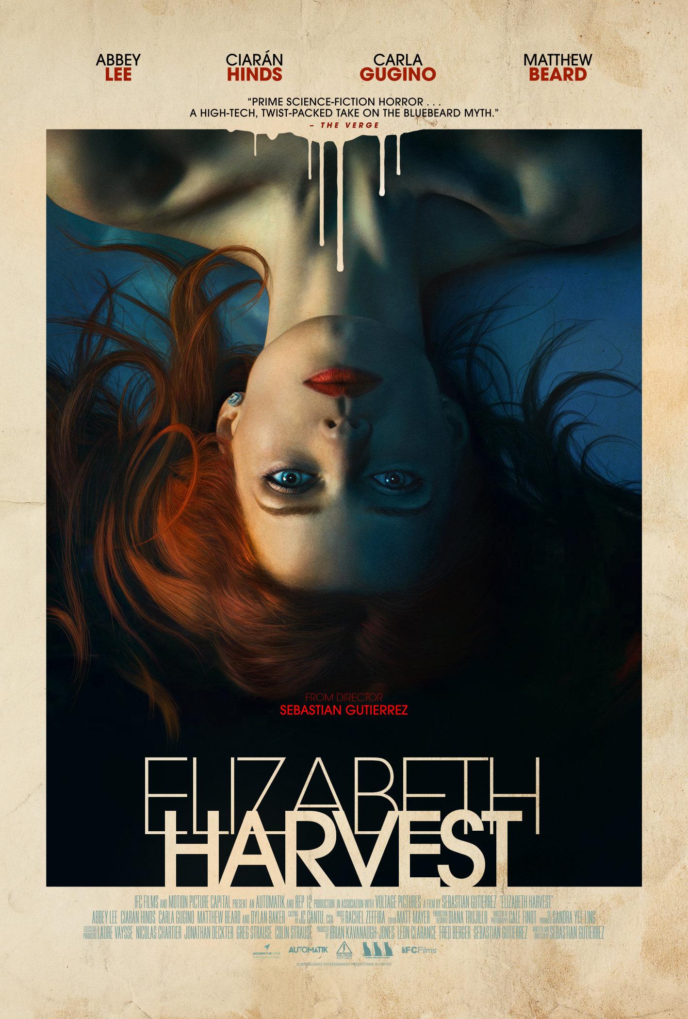ELIZABETH HARVEST Release Poster