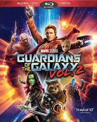 GUARDIANS OF THE GALAXY VOL 2 Blu-ray Cover