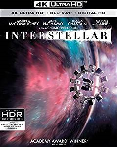 INTERSTELLAR 4K Blu-ray Cover