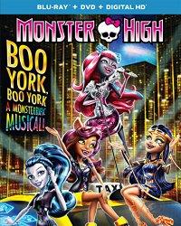 MONSTER HIGH BOO YORK BOO YORK DVD Cover