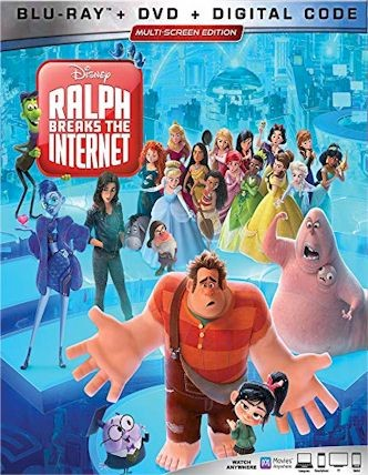 RALPH BREAKS THE INTERNET Blu-ray Cover