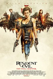 RESIDENT EVIL:THE FINAL CHAPTER Release Poster