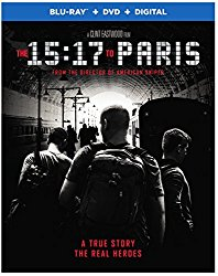 The 15:17 To Paris Blu-ray Cover